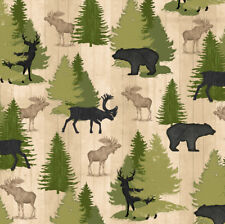 FABRIC QT ~ MOOSE TRAIL LODGE ~ Audrey Jean Roberts (26683 E) by the 1/2 yard