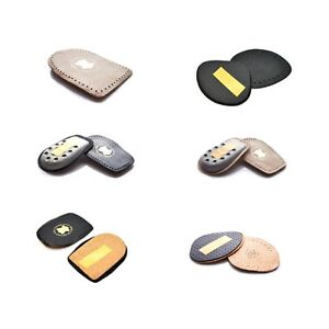 Shoes Insoles Unisex Leather Heel Support Half Insoles Orthotic Lift Pad Cushion