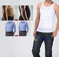 HOT Men Slim Body Shaper Belly Fatty Underwear Vest Shirt Corset Compression #MC