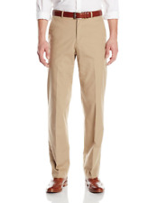 Kroon Nordstrom Beige Khaki Cotton Blend Flat Front Dress Pants 42x30 Prehemmed