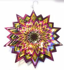 Stainless Steel Wind Spinner Starburst Purple Gold Silver,Eye Catching