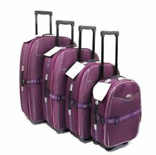 SET OF 4 SUITCASES LIGHTWEIGHT WHEEL SUITCASE TROLLEY CASE TRAVEL LUGGAGE UK