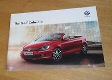 Volkswagen VW Golf Mk7 Cabriolet Brochure 2013-2014 1.4 TSI 1.6 2.0 TDI SE GT