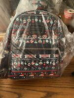 NEW Disney Parks Loungefly Christmas Mini Backpack Ugly Sweater EXACT PLACEMENT
