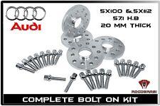 Audi A3 A4 A5 A6 A8 R8 TT S4 S6 S8 20 MM Thick Wheel Spacers W/ 14x1.5 Lug Bolts