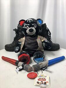 "Build A Bear Star Wars Bear Reversible Light/Dark Side  16"" , Rare Uniform +"
