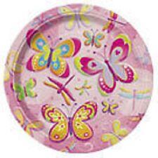 """""""BUTTERFLIES""""    Pack of 8 - Butterflies & Dragonflies 9"""" Dinner Plates!"""