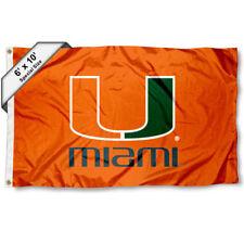Miami Canes 6' x 10' Large Flag