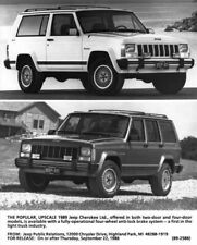 1989 Jeep Cherokee Limited 2 Door & 4 Door Press Photo with Text 0010
