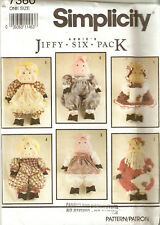 SIMPLICITY CRAFT PATTERN 7360 STUFFED PIGS 6 OUTFITS VICTORIAN XMAS & HEARTLAND