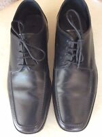 M&S Sartorial Black Lace Up Shoes Size UK 10 Extra Wide Fit Smart Business