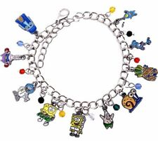 Spongebob and Friends Characters 10 Themed Charms Metal Charm Bracelet