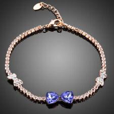 Fashion Made With Sparkly Purple Swarovski Crystals Bow Design Tennis Bracelet