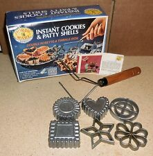 Nordic Ware Instant Cookies & Patty Shells ~ Double Rosette & Timbale (VGUC)