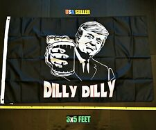 New listing Donald Trump 2020 Flag Free First Class Ship Dilly Dilly Bud Light New One Sided