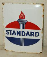 Standard Oil Vintage Style Porcelain Signs Gas Pump Man Cave Station