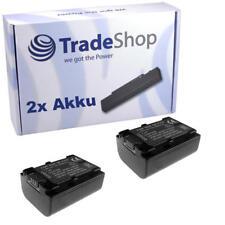 Batería 2x para Sony nex-vg20 nex-vg20e hxr-nx30 hxr-nx30e hxr-nx70
