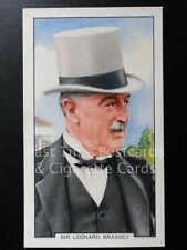 Single: SIR LEONARD BRASSEY No.26 'RACING SCENES' Gallaher Cigarette Cards 1938