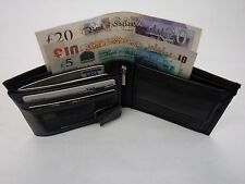 Gents Soft Sheep Skin Leather Wallet With Change Pocket Photo space