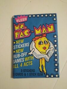 1980S FLEER MS PAC-MAN, PAC MAN AND CANADIAN SEALED WAX PACKS LOT OF 3