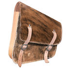 C-S104 Horse Western Saddle Bag Made In Usa Cowhide Hair On Leather Cowboy Trail