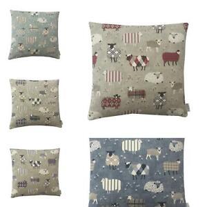 Iliv fabric Baa Baa Sheep Lambs multi colour listing Hand made UK cushion cover