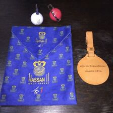 HASSAN II GOLF TROPHY Morocco Velvet Valuables Pouch Keychain Card Holdr Bag Tag