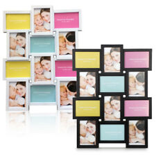 """12 Photos 4"""" x 6"""" Large Multi Picture Frame Collage Aperture Wall Photo Decor UK"""