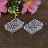 2Pcs 1:12 Dollhouse miniature accessories resin tray simulation food plate toWG