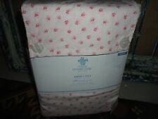 SIMPLY SHABBY CHIC MON AMI PINK PETITE ROSE FLORAL (4PC) QUEEN SHEET