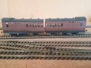 """Branchlines 4mm kit built SR """"J"""" Fruit Set (2 × SECR 27ft Bk 3rd coaches)"""