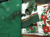 Vintage Tablecloth Christmas Lot of 3