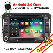 Android 8.0 DAB+ Autoradio NAVI Für VW Caddy Passat Golf Tiguan Touran Jetta EOS