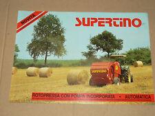Prospectus Presse SUPERTINO  Tracteur trattore tractor traktor prospekt brochure