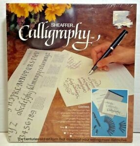 Sheaffer Calligraphy Set Fountain Pen 3 Nibs Instructions Grids Paper 72260 NEW