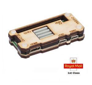 Raspberry Pi Zero W Case with Ceramic Heatsink - Light Wood