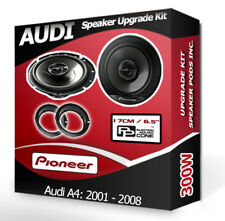 Audi A4 Rear Door speakers Pioneer car speaker kit + adapter rings pods 300W