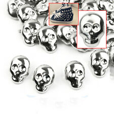 30pc Skull Spot  Nailheads Spike Studs Silver Goth Rock DIY Leather Craft mode