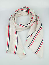 New. BROOKS BROTHERS BLACK FLEECE BY THOM BROWNE Brown Cotton Blend Scarf $95