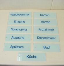 """Altes Glasschild Schild, """" Eingang """" Türschild aus Glas 25x8cm"""