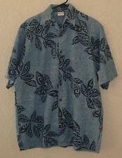 Go Barefoot A Hawaiian Tradition Shirt Men's Size Large Blue Best Things in Life