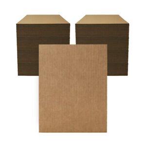 """200 - 9"""" x 12"""" Corrugated Cardboard Pads/Inserts/Sheets 32 ECT - Made in USA"""