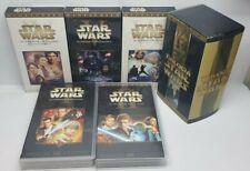 PELICULA VHS PACK TRILOGIA CLASICA STAR WARS EPISODIOS 4+5+6 + EPISODIOS 1 y 2