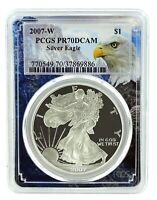 2007 W 1oz Silver Eagle Proof PCGS PR70 DCAM - Eagle Frame