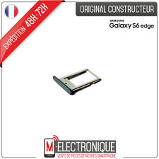 Trappe / Support Noir Carte Nano SIM Original Samsung Galaxy S6 Edge G925