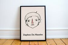 Daphne Du Maurier Portrait Art Print, Rebecca, My Cousin Rachel, and Jamaica Inn