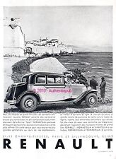 PUBLICITE AUTOMOBILE RENAULT BERLINE SPORT NERVASTELLA DE 1931 FRENCH AD CAR PUB