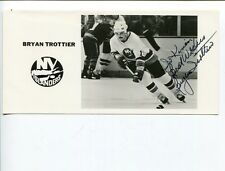 Bryan Trottier NY New York Islanders Stanley Cup Champ Signed Autograph Photo