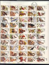 US 1987 AMERICAN WILDLIFE FULL SHEET BIRDS ANIMALS BUTTERFLIES BOBCATS MOUNTAIN