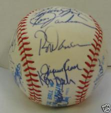 1983 TEXAS RANGERS - Team signed ball 29 signatures PSA